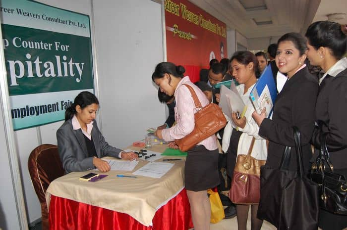 Candidates at the Career Weavers Grand Employment Fair 2010