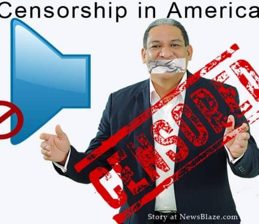 Man censored from speaking.
