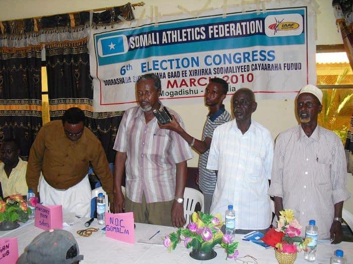 Somali NOc vice president Hajji Abdi Elmi Warsame
