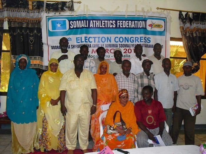 The new Executive committee and Secretariat of Somali Athletics federation