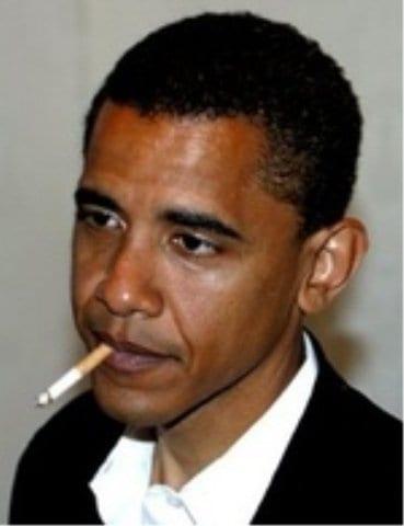 barack obama smokes