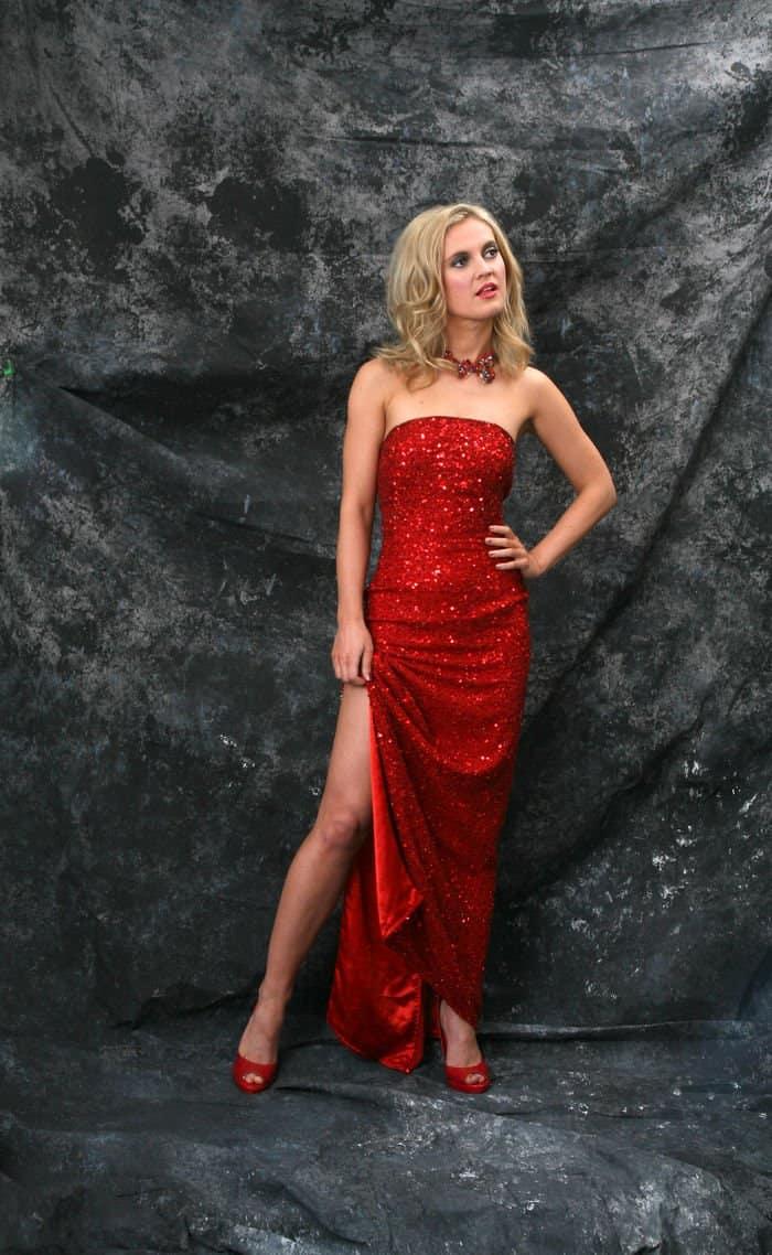 elena red dress
