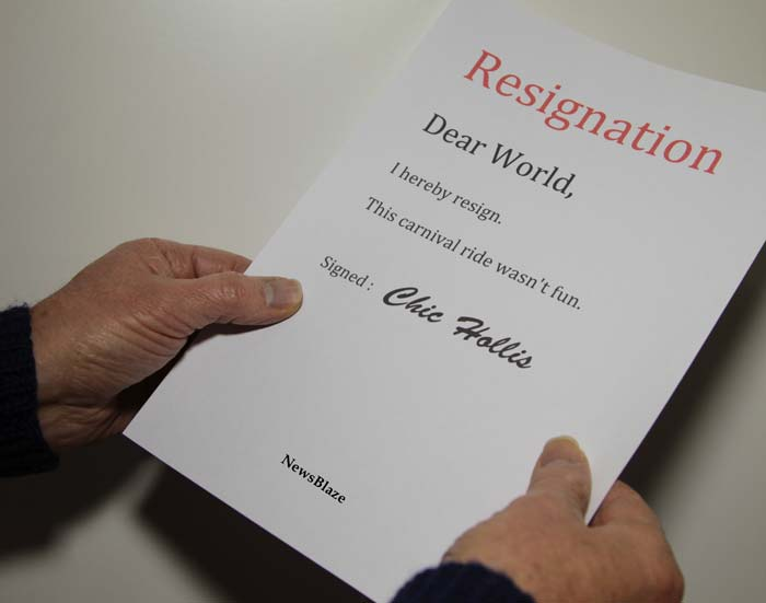 dear world i resign