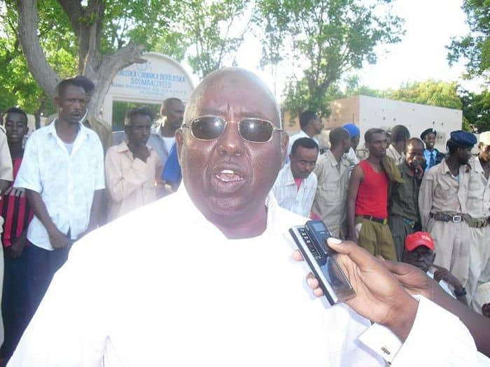 Somali Noc President Aen Haji Yabarow addresses at the commemoration