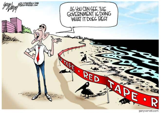 Government Does Its Best With The Red Tape it Has