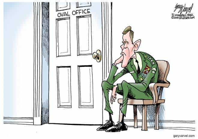 General Ponders The Future, Outside The Oval Office