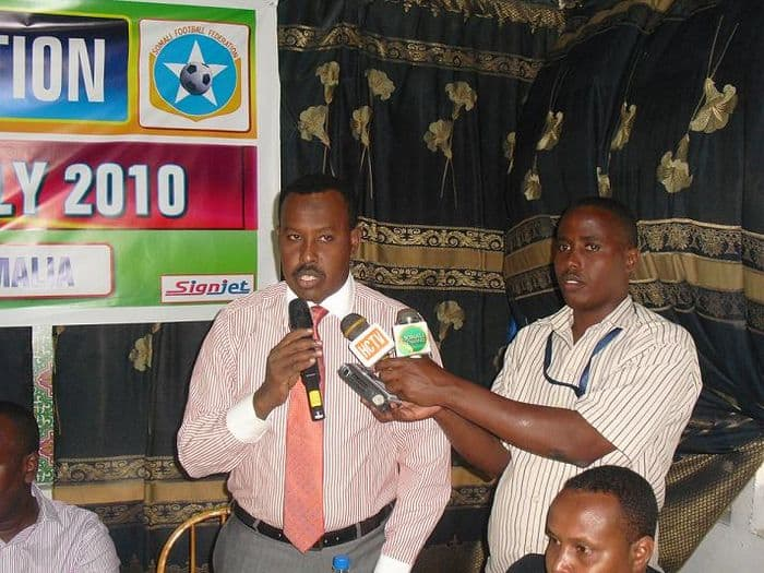 Somali Football Federation SecretaryGeneral Abdi Qani Said Arab