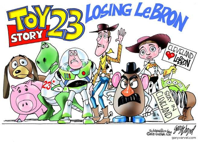 Cleveland Toy Story Sorry to Lose LeBron