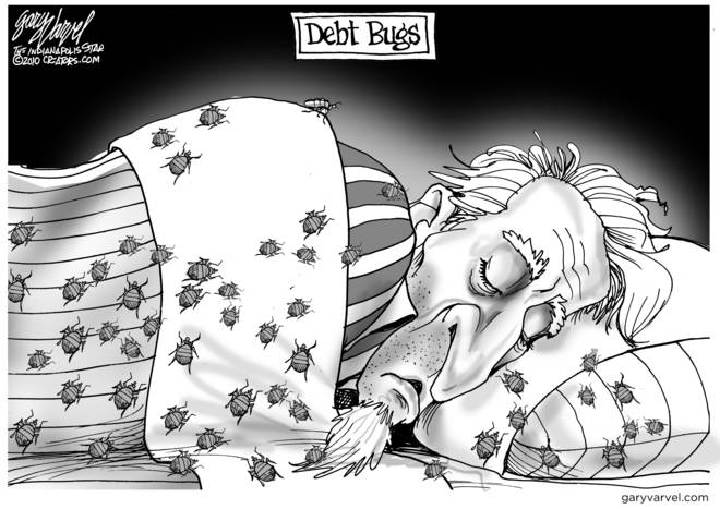 Uncle Sam Sleeps With Debt Bugs. They Are Everywhere