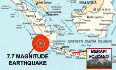 Indonesia Earthquake and Volcano