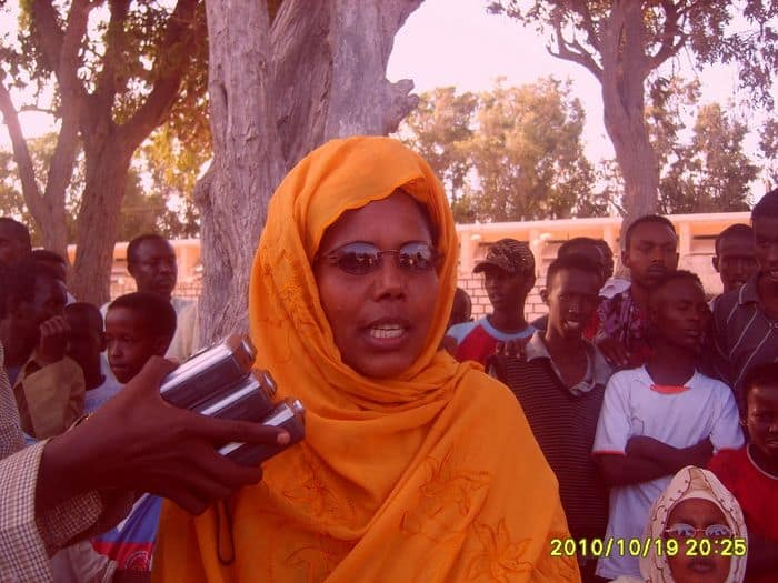 Somali Athletics federation senior vice President Qadija Aden Dahir