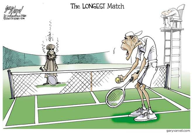 Obama goes another set with Osama.