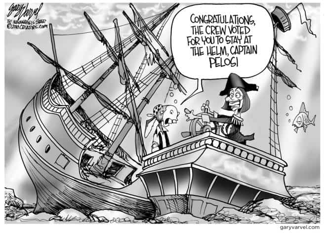 Captain Pelosi Still Captains The Sunken Galleon