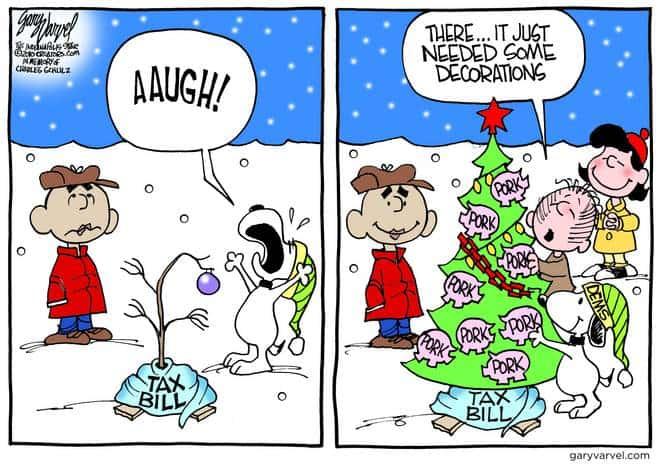 Snoopy Loves Pork On His Christmas Tree