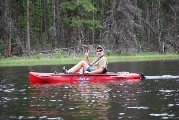 TOM in kayak