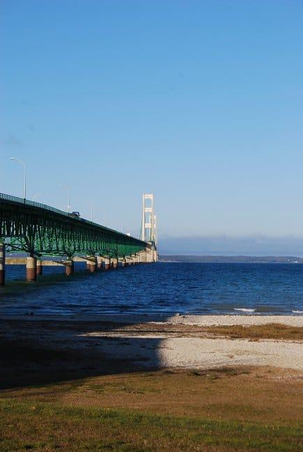 Makinac Bridge Michigan Roak Trekin Adventures Great Lakes