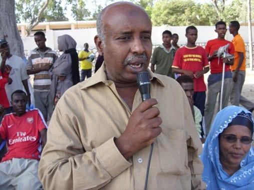 Somali NOC vice president Hassan Ahmed Abdi