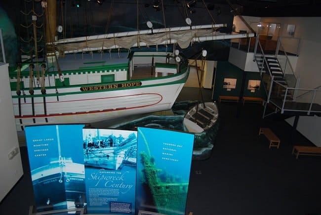 Western Hope ship wreck NOAA Alpena Michigan Road Trekin Adventures