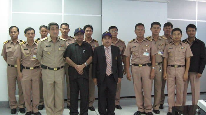 With cadets of Royal Thai Navy Academy