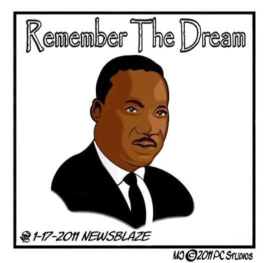 MLK cartoon by MJ