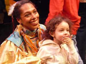 Marie McKinney and child