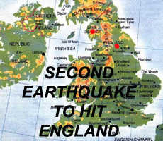 Second Earthquake to hit England