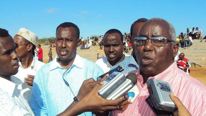Somali NOC president Aden Hajji Yabarow