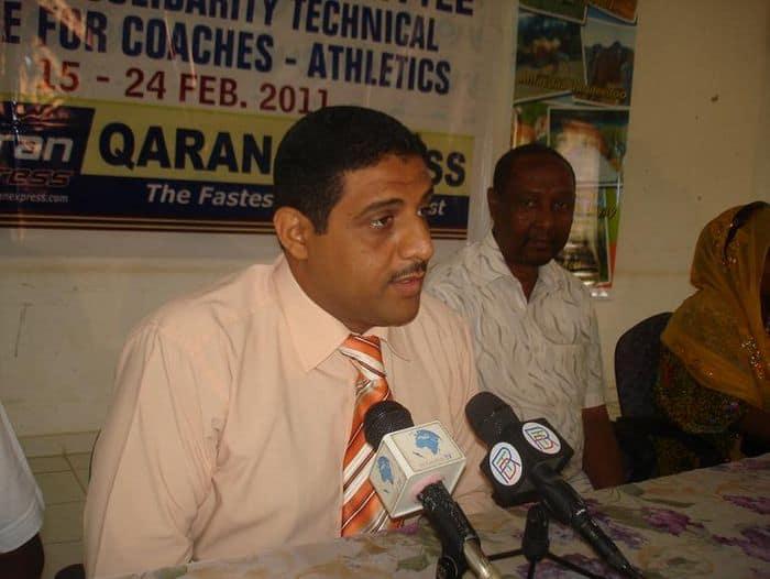 Djibouti NOC vice president Feysal Abdirahman