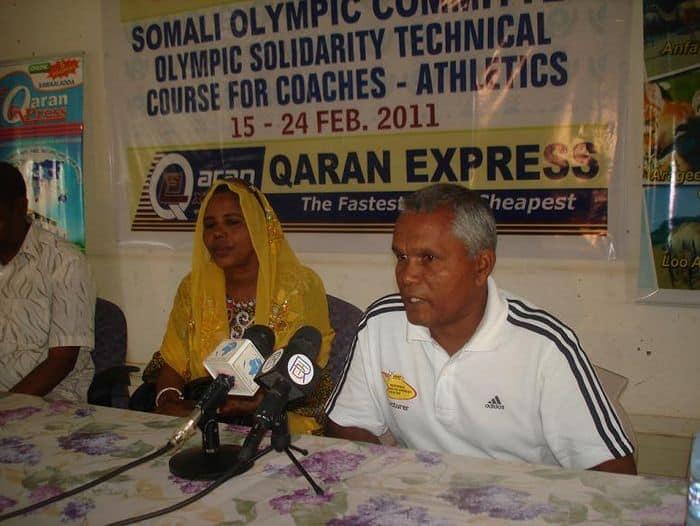 IAAF lecturer Secere Joel