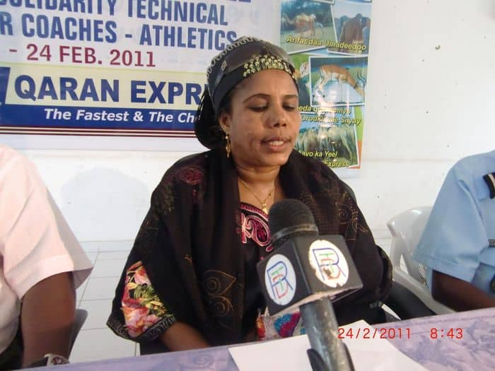 Somali Athletics Federation first vice president Khadija Aden Dahir