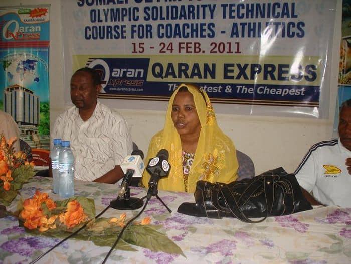 Somali Athletics vice president Khadija Aden Dahir