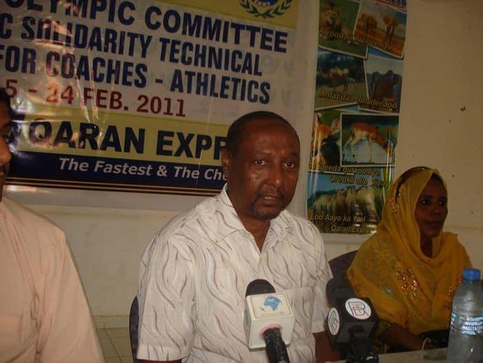 Somali NOC Secretary Genertal AbdullaahiAhmed Tarabi