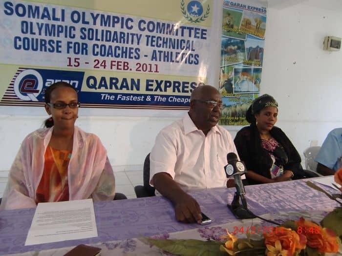 Somali NOC president Mr. Aden Hajji Yeberow