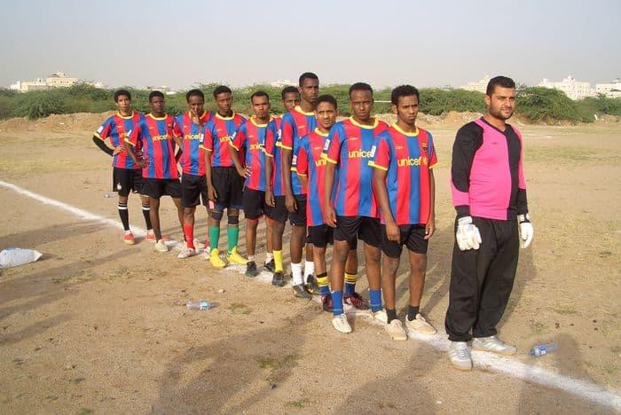 Xamar Cadey FC lines up.