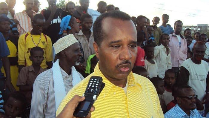 Somali Deputy sports minister Ali Sheik Abdullahi