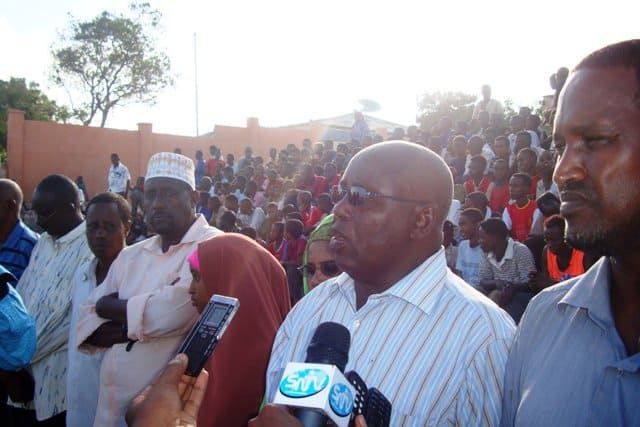Somali Olympic President Adan hajji Yabarow Wish