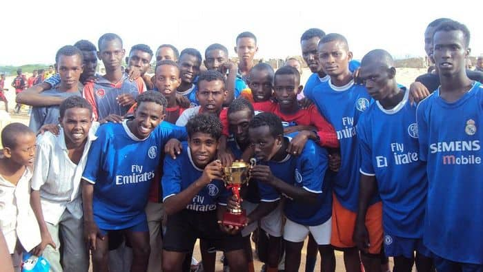 Young boys celebrate for fictory