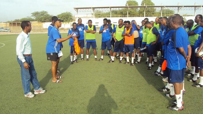 Ulric talks to the coaches