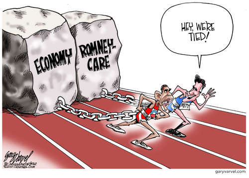 Obama and Romney Tied in Baggage, Lots Of It