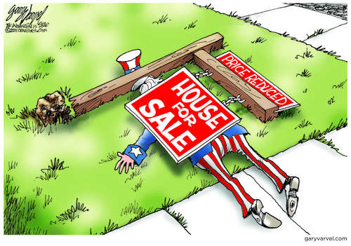 Uncle Sam Hit By Falling Home Prices