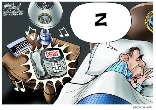 White House Debt Phone Rings While Obama Sleeps