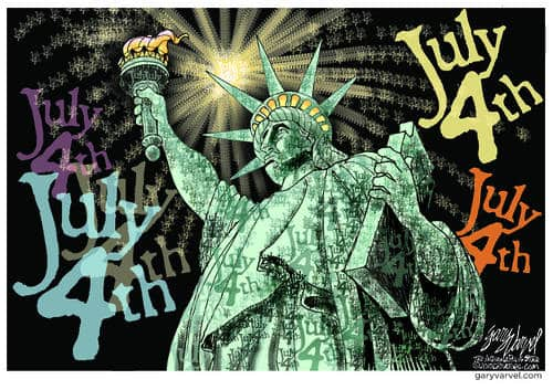 Lady Liberty Celebrates 4th July