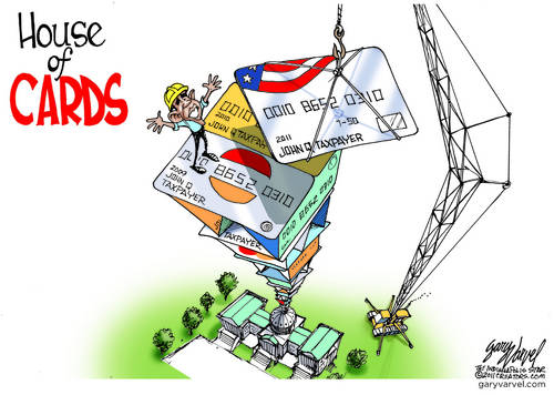 Obama Shovel Ready Job Is A House Of Credit Cards