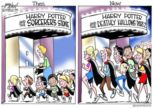Harry Potter Fans Getting Older, Still Spellbound