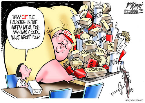 Cut Back On Kids Calories, Boost Debt Calories