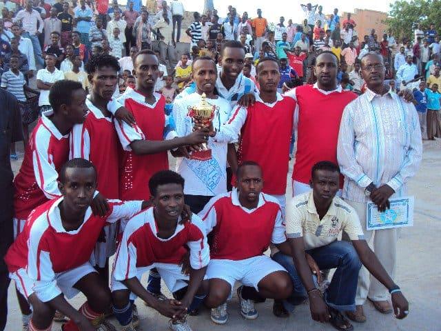 winning team celebrates