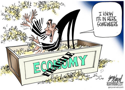Obama Searches Desperately For The Economy