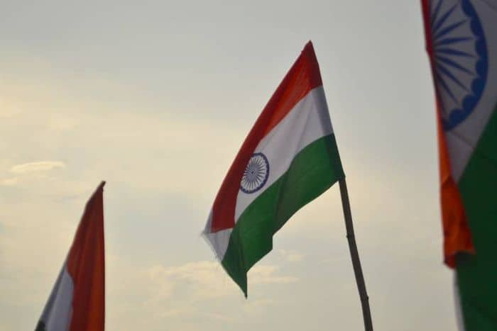 india flags raised