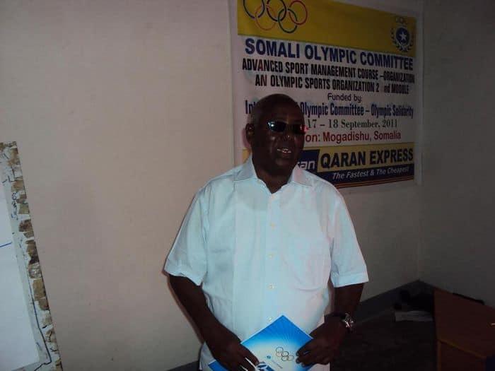 NOC President Aden Hajji Yeberow