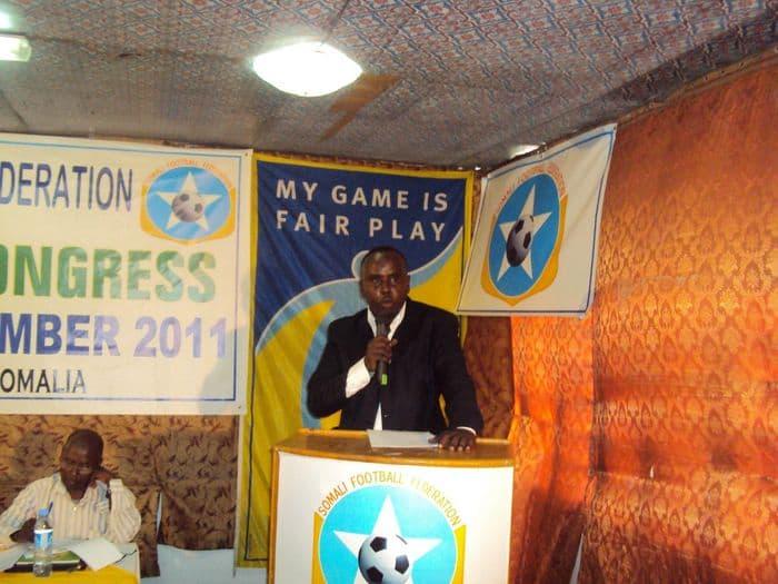 SFF President Said Mahmopud Nur Addressing at the congress